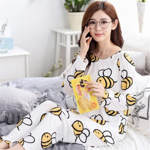 Adorable Animal Print Women Pajamas 1