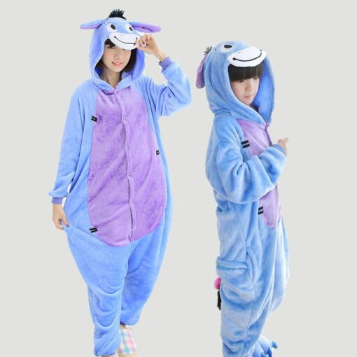 Animal theme Onesie Pajamas for Mother and Daughter 1