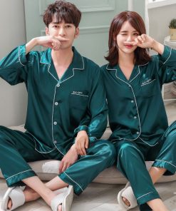 Solid Matching Pajamas For couple 17