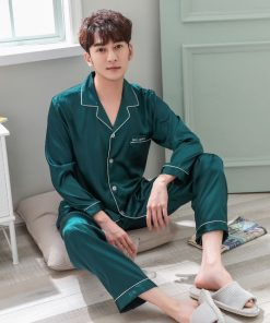 Solid Matching Pajamas For couple 21