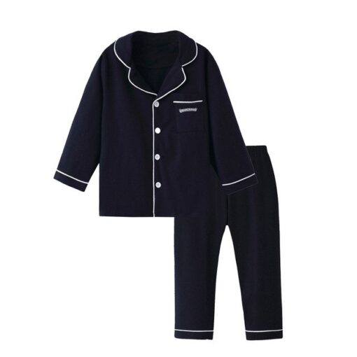 Adorable Solid Color Pajamas For Kids 1