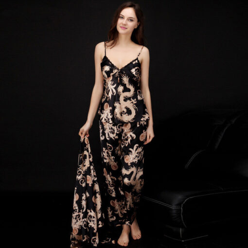 High-Quality Printed Couple Nightwear Pajamas Suit 2