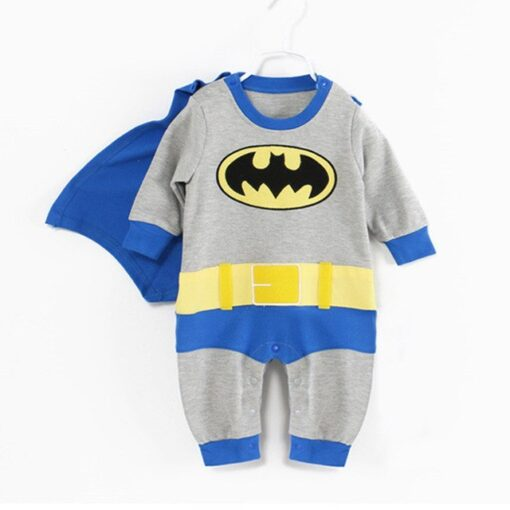 Newborn Cute Superhero Romper Pajamas 1