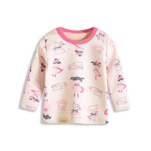 Adorable Basic Cartoon Pajamas for Kids 2