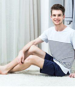 Cool Striped Men's Nightwear Pajamas 6