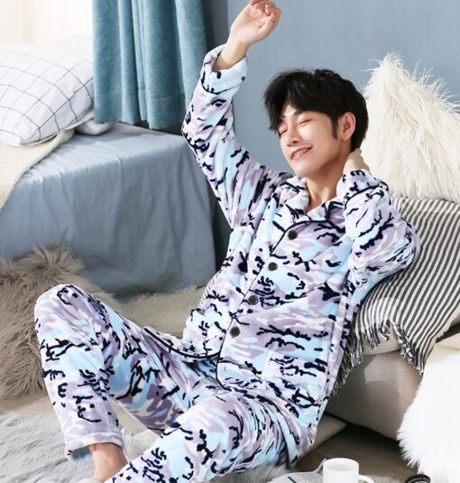 Men Soft and Cozy Winter Pajamas 3