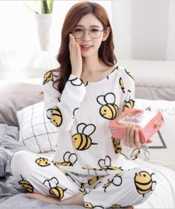 Adorable Animal Print Women Pajamas 7
