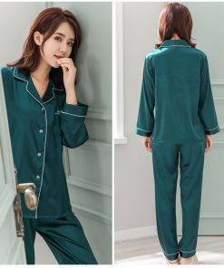 Solid Matching Pajamas For couple 23
