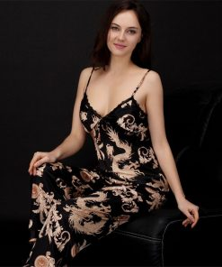 High-Quality Printed Couple Nightwear Pajamas Suit 4