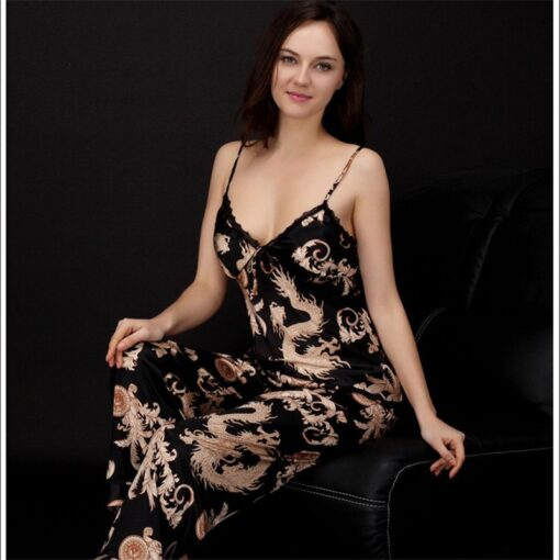 High-Quality Printed Couple Nightwear Pajamas Suit 1