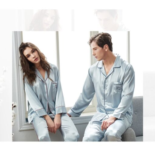 Spring Matching Pajama Sets for Couples 3