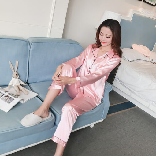 Solid Pink Pajamas for Women 1