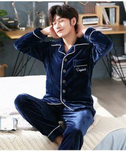 Autumn Spring Soft Cotton Pajamas for Men 6