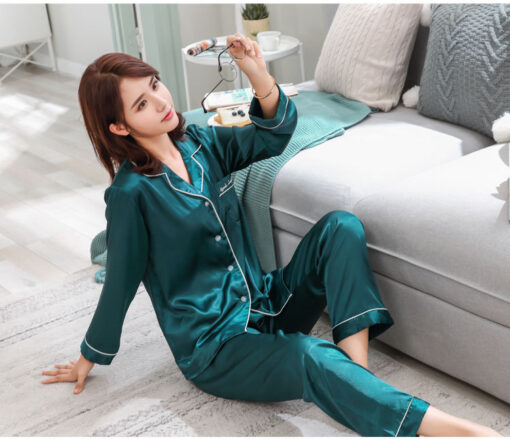 Solid Matching Pajamas For couple 8