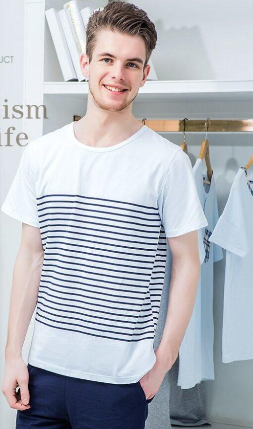 Cool Striped Men's Nightwear Pajamas 2