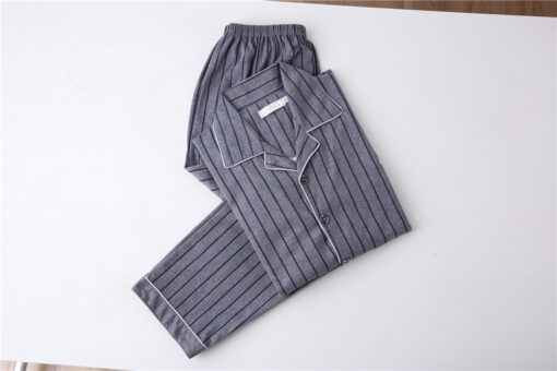Cozy and Casual Striped Pajamas for Men 2