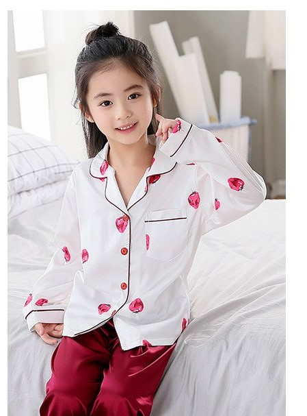 Beautiful Solid Color Mother and Daughter Matching Pajamas 4