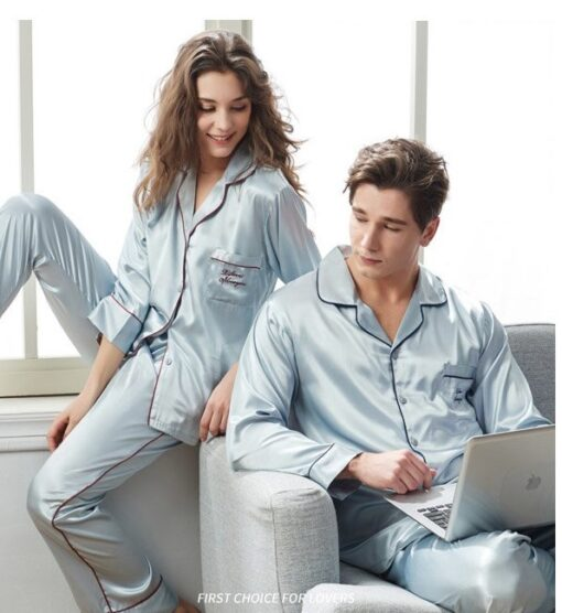 Spring Matching Pajama Sets for Couples 2