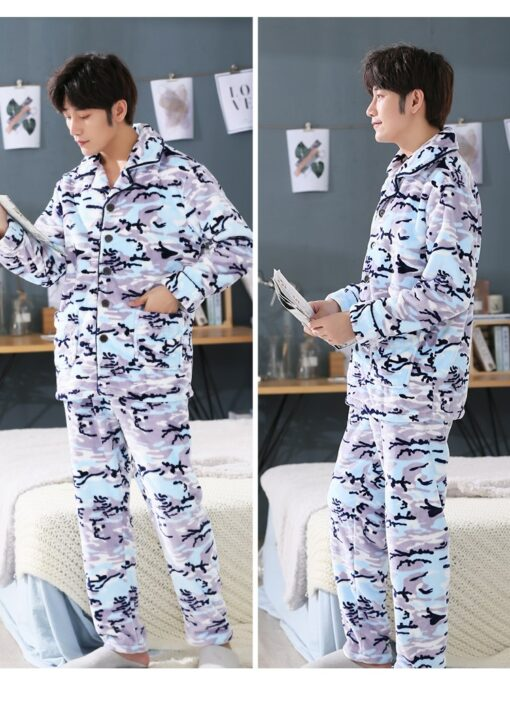 Men Soft and Cozy Winter Pajamas 4