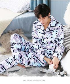 Men Soft and Cozy Winter Pajamas 9