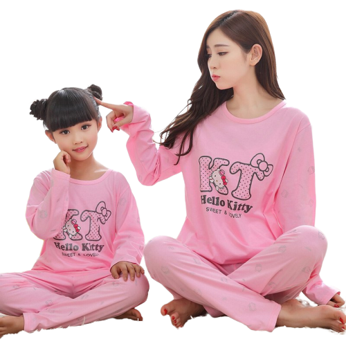 Matching Mommy and Me Pajamas Set 1
