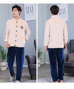 Autumn Spring Soft Cotton Pajamas for Men 11