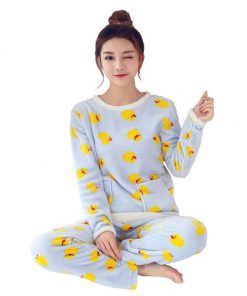 Bird Print Pajamas For Women 5