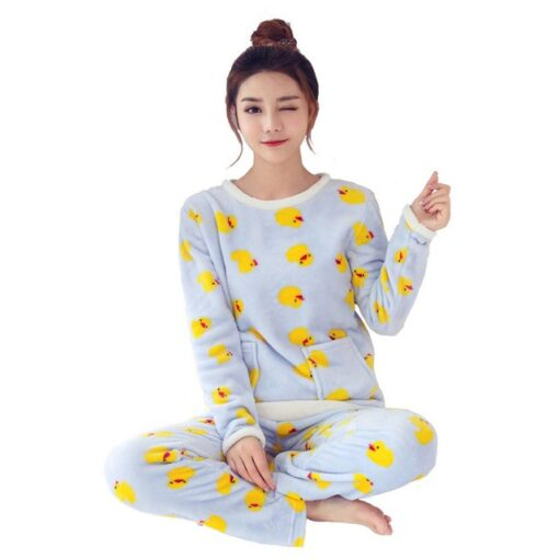 Bird Print Pajamas For Women 3