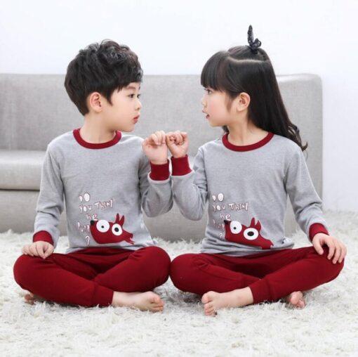 Cotton Unisex Night Suit Pajamas for Kids 1