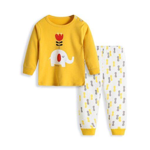 Cute Cartoon Print Pajamas for Kids 1