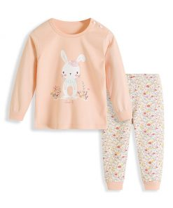 Bunny Cartoon Print Kids Pajamas 3