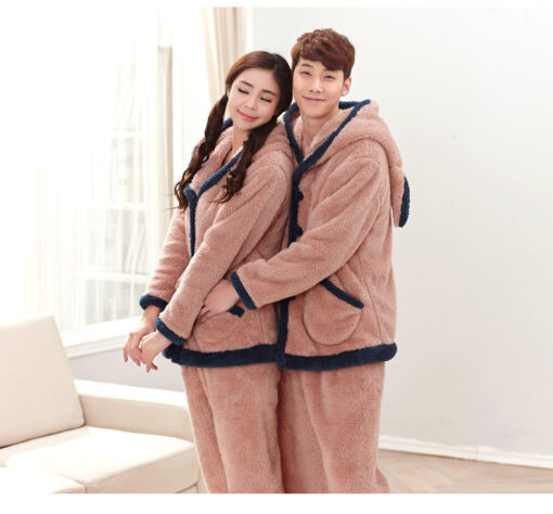 Winter Cute Couple Matching Pajamas 2