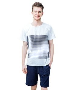 Cool Striped Men's Nightwear Pajamas 7