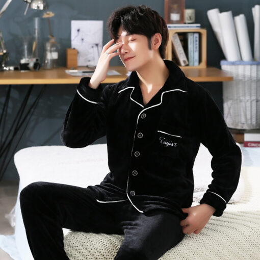 Winter Soft Cotton Pajamas for Men 1