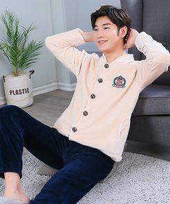 Autumn Spring Soft Cotton Pajamas for Men 10