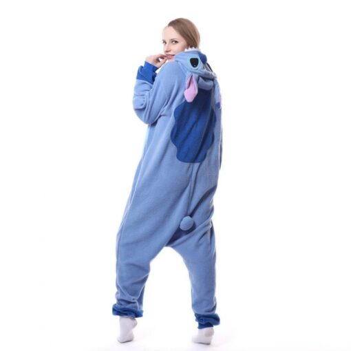 Stitch Polar Fleece Onesie Pajamas Halloween Party 1