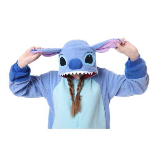 Stitch Polar Fleece Onesie Pajamas Halloween Party 2