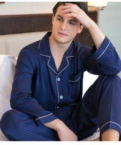 Classy Striped Print Pajamas 6