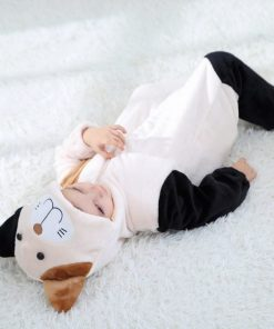 Cat Face Hooded Onesie Pajamas For Toddlers 4