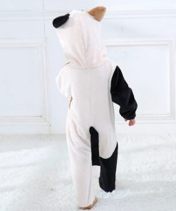 Cat Face Hooded Onesie Pajamas For Toddlers 6