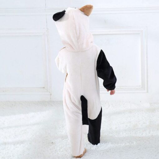 Cat Face Hooded Onesie Pajamas For Toddlers 3