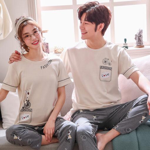 Comfy Summer Couple Pajamas Set 2