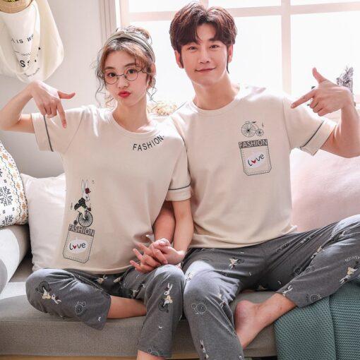 Comfy Summer Couple Pajamas Set 1