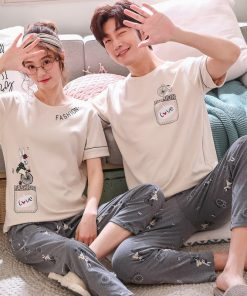 Comfy Summer Couple Pajamas Set 7
