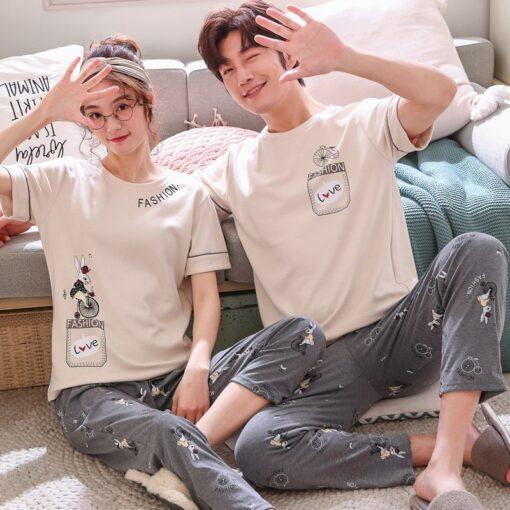 Comfy Summer Couple Pajamas Set 3