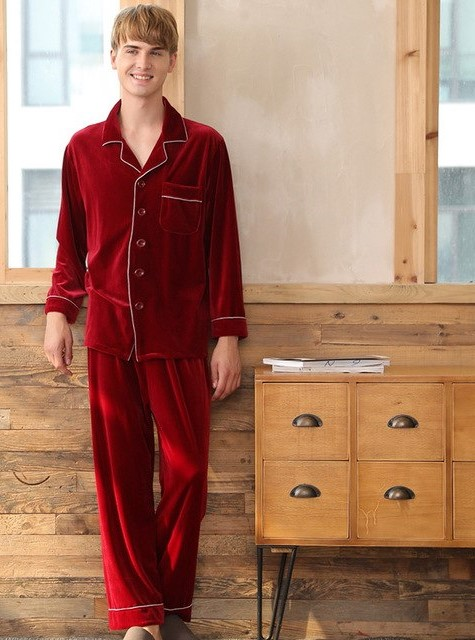 Warm Polyester Couple Matching Pajamas Set 4