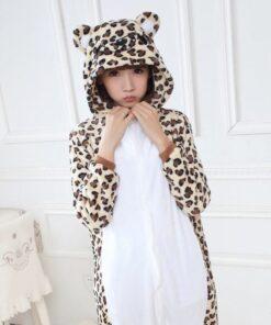 Girls Cute Leopard Bear Pajamas 4