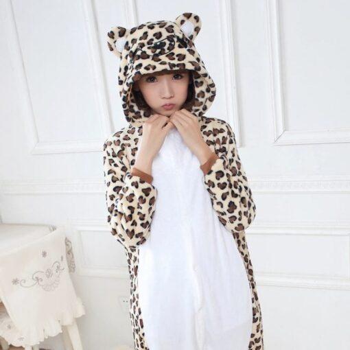 Girls Cute Leopard Bear Pajamas 2