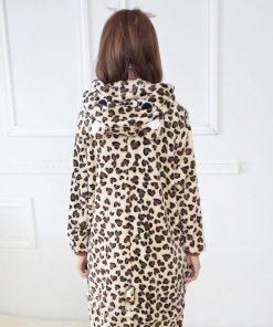 Girls Cute Leopard Bear Pajamas 5