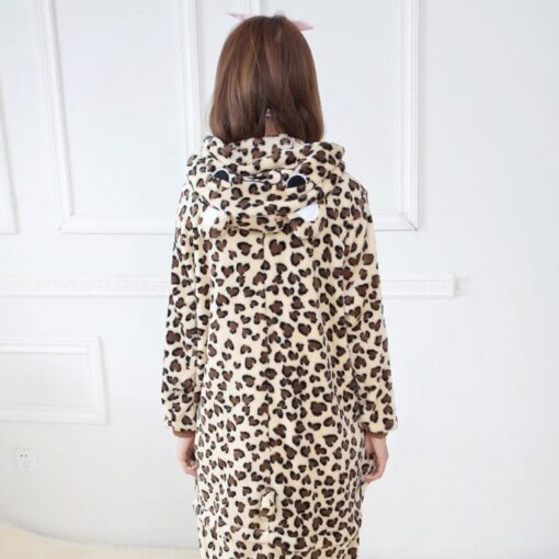 Girls Cute Leopard Bear Pajamas 3